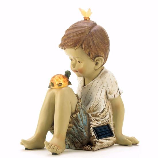 Picture of Making Friends Boy Solar Sculpture