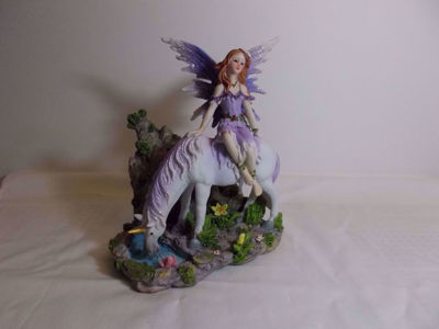 Picture of Lavender Fairy And Unicorn Figurine
