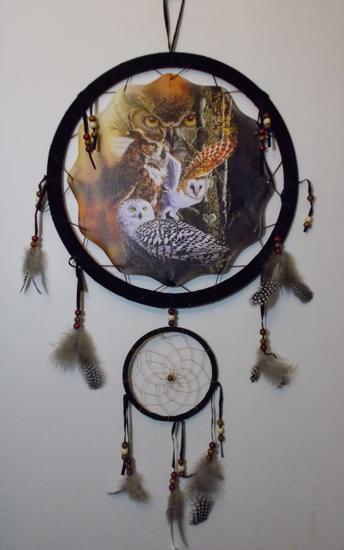 Picture of Owls Mandala Scene - Dreamcatcher  - by  Steven Michael Gardner