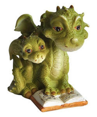 Picture of Mama Dragon Reading to Baby