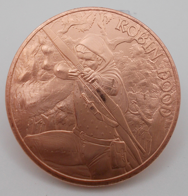 Picture of Medieval Legends Robin Hood (1oz Copper Round) Coin